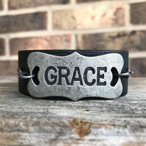 Jewelry - Grace cuff bracelet - faux leather cuff